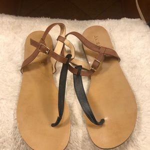 J Crew Leather T.Strap thong sandals